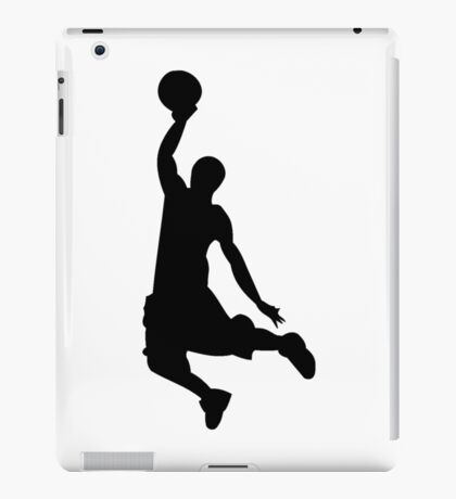 Basketball Player, Slam Dunk Silhouette iPad Case/Skin