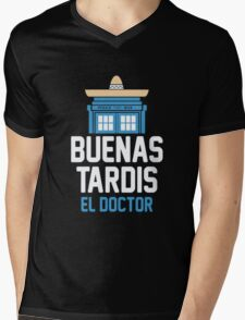 Buenas El Doctor Mens V-Neck T-Shirt