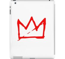 Red on white Basquiat Crown iPad Case/Skin