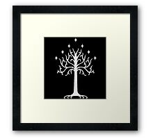 White Tree of Gondor-  the lord of the rings Framed Print