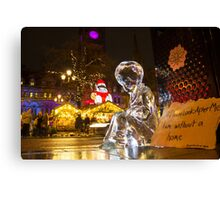 #PleaseLookAfterMe Ice Sculptures - Manchester Canvas Print