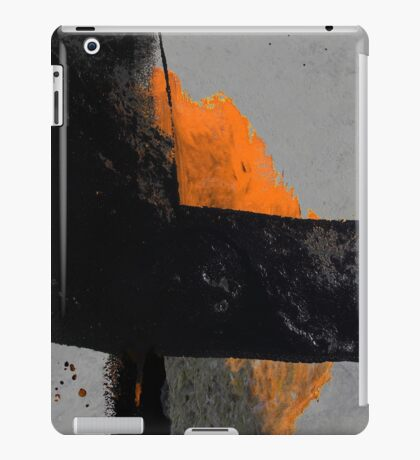 Minimal Orange on Black iPad Case/Skin