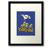 BANANA FLAG Framed Print