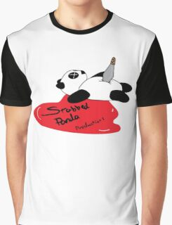 Stabbed Panda Logo Graphic T-Shirt