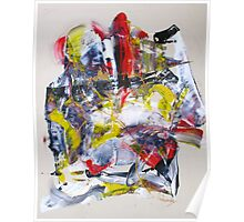 Sergei Rachmaninoff piano concerto 3 - Original mixed media Abstract painting Poster