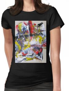 Sergei Rachmaninoff piano concerto 3 - Original mixed media Abstract painting Womens Fitted T-Shirt