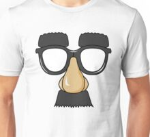 Funny Man Glasses Disguise Unisex T-Shirt