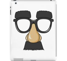 Funny Man Glasses Disguise iPad Case/Skin