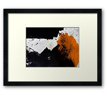 Minimal Orange on Black Framed Print