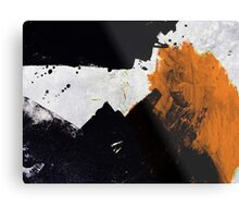 Minimal Orange on Black Metal Print