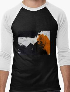 Minimal Orange on Black Men's Baseball ¾ T-Shirt