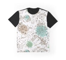 Cofee Break Pattern Graphic T-Shirt