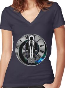 Doctor Who - 6th Doctor - Colin Baker Women's Fitted V-Neck T-Shirt
