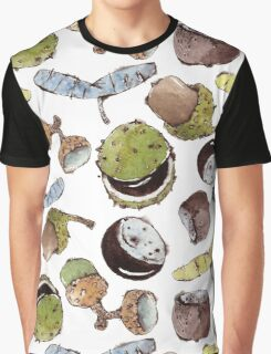 Watercolors Seeds and Nuts Graphic T-Shirt