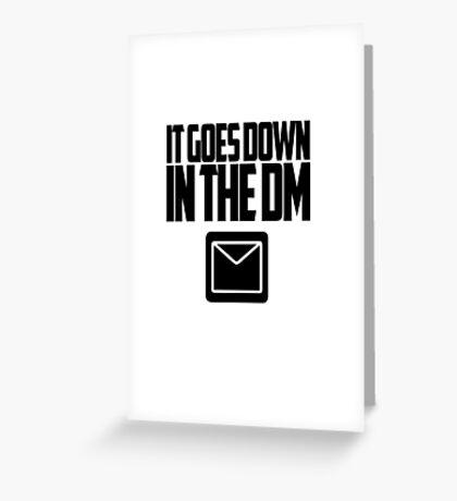 YO GOTTI - DOWN IN THE DM Greeting Card