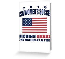 Kicking Grass Greeting Card