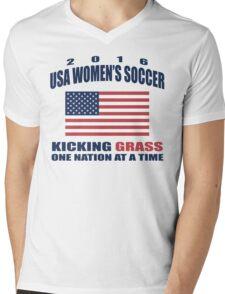 Kicking Grass Mens V-Neck T-Shirt