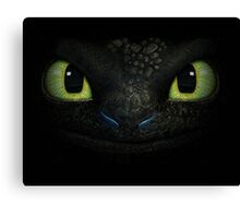 How To Train Your Dragon - Night Fury Black Canvas Print