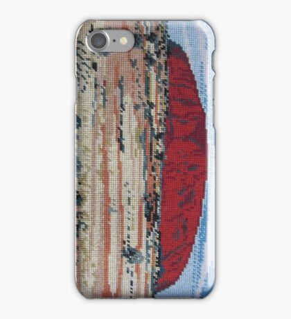 Red Uluru Olga Rock Ayer's Aborigine Native Australia Landmark Needlepoint Kirsten Designs iPhone Case/Skin