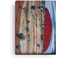 Red Uluru Olga Rock Ayer's Aborigine Native Australia Landmark Needlepoint Kirsten Designs Canvas Print