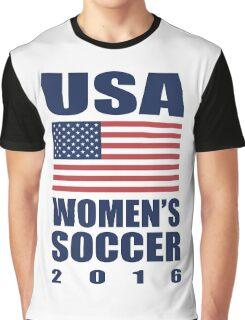 USA Women's Soccer 2016 Graphic T-Shirt