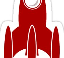 Booster Space Rocket Clip-Art Sticker