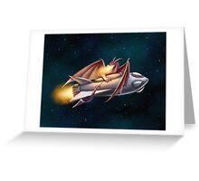 The Dragon's Rocketship Greeting Card