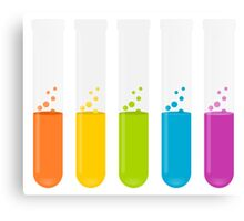 Multi-Colored Science Test Tubes Canvas Print