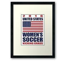 United States Kicking Grass Framed Print