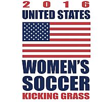 United States Kicking Grass Photographic Print