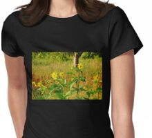 Golden Yellow Ray Florets Womens Fitted T-Shirt