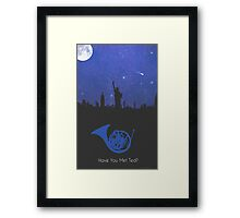 Have you met ted? - french horn version Framed Print