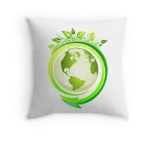 Earth Nature Ecology Throw Pillow