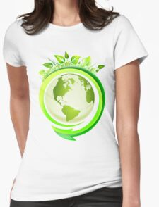 Earth Nature Ecology Womens Fitted T-Shirt