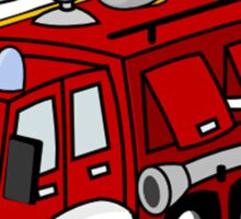 Fire Engine Penguin Sticker