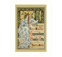 Art Nouveau French Fine Arts Expo Marseilles Marseille Art Print