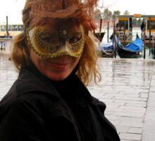 Beautiful venice carneval in old style. Sticker