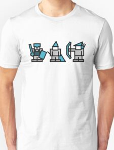 8 Bit Gaming Characters - Knight, Wizard, Archer T-Shirt