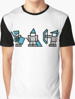 8 Bit Gaming Characters - Knight, Wizard, Archer Graphic T-Shirt