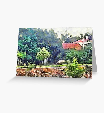 Home Between trees Greeting Card