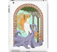 Art Nouveau Woman in Lavender iPad Case/Skin