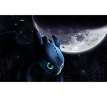 How To Train Your Dragon - Night Fury in The Night Photographic Print