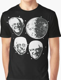 Three Bernie Moon - Funny Bernie Sanders Parody Graphic T-Shirt