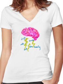 A Storm's a Brewin' Women's Fitted V-Neck T-Shirt