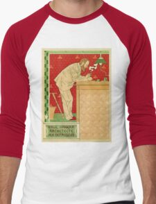 Art nouveau Brussels architect advertising Men's Baseball ¾ T-Shirt