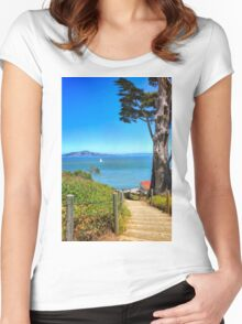 Above San Francisco Bay Women's Fitted Scoop T-Shirt