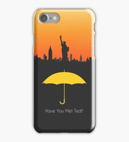 Have you met ted? - yellow umbrella version iPhone Case/Skin
