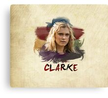 Clarke - The 100 - Brush Canvas Print