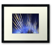 Blue Feathers Framed Print