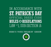 St. Patrick's Day Rules & Regs (original) Unisex T-Shirt